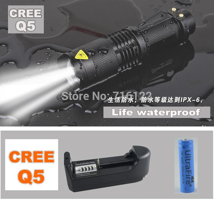 high-quality-Mini-Black-CREE-2000LM-Wate